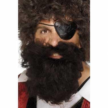 Bruine jack sparrow baard voor heren
