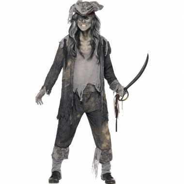 Zombie jack sparrow kostuum voor heren